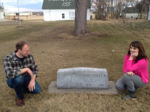 TBF and I pay our respects to Dan Patch (spoiler: he's not actually buried there)